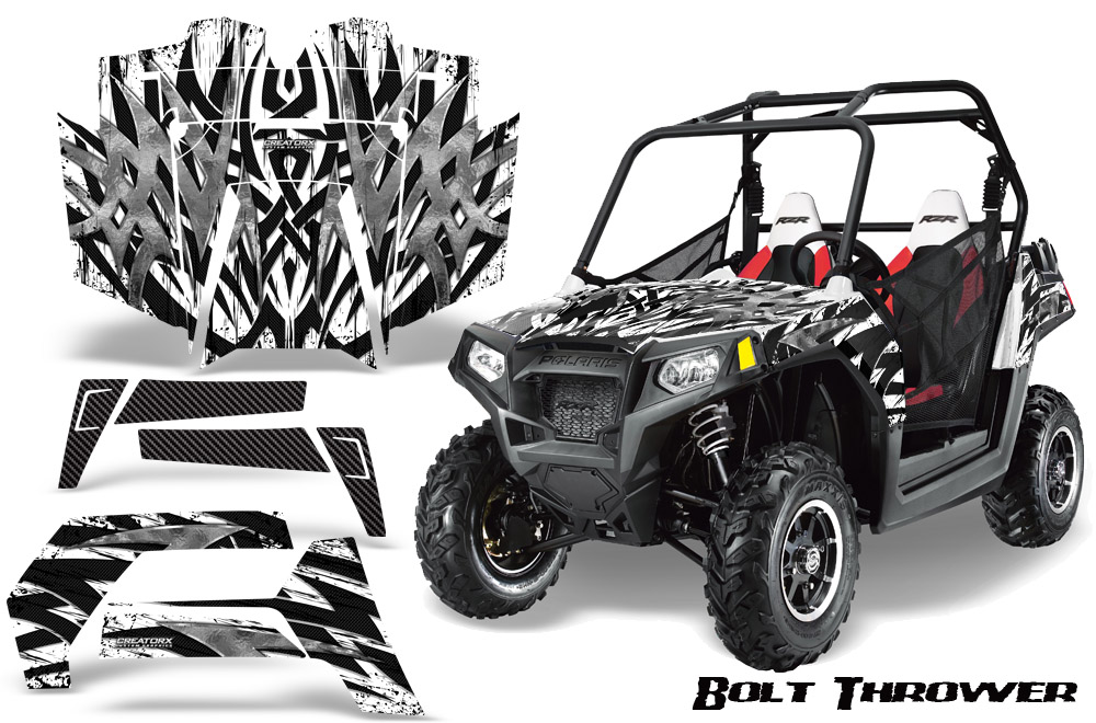 Polaris Rzr 800 2011 Graphics Kit Bolt Thrower White 8 Of